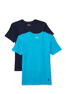 Ralph Lauren Childrenswear 2-Pack V-Neck T-Shirt Set Boys 8-20