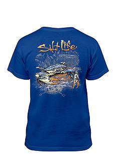 Salt Life Short Sleeve Blue Crab Tee Boys 8-20