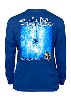 Salt Life Hook Line and Sinker Tee Boys 8-20
