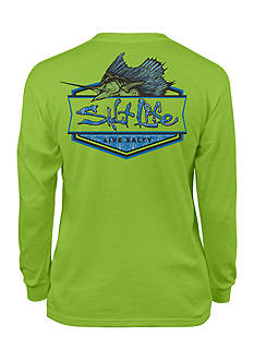 Salt Life Long Sleeve Sailfish Badge Tee Boys 8-20