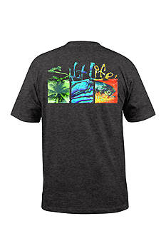 Salt Life Trippy Boxes Tee Boys 8-20
