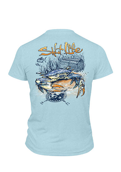 Salt Life Blue Crab Performance Tee Boys 8-20