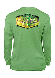 Salt Life Performance Long Sleeve Fish Skinz Tee Boys 8-20