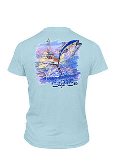 Salt Life Old School Tuna Performance Tee Boys 8-20
