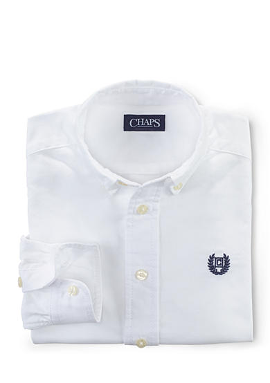 Chaps Long Sleeve Solid Oxford Shirt Boys 4-7