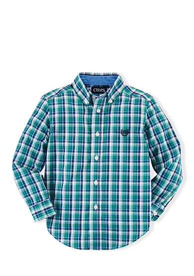 Chaps Eastford Plaid Button Down Shirt Boys 4-7