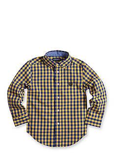 Chaps Gingham Poplin Shirt Boys 4-7