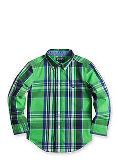 Chaps Plaid Poplin Shirt Boys 4-7