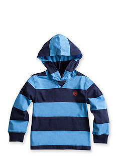 Chaps Striped Jersey Hoodie Boys 4-7