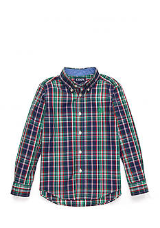 Chaps Long Sleeve Easy Care Button Down Shirt Boys 4-7