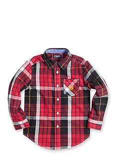 Chaps Twill Plaid Shirt Boys 4-7