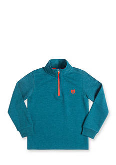 Chaps Long Sleeve Quarter Zip-Up Teal Fleece Pullover Boys 4-7