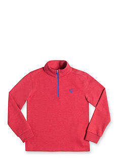 Chaps Long Sleeve Quarter Zip-Up Red Fleece Pullover Boys 4-7