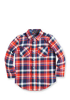 Chaps Plaid Flannel Shirt Boys 4-7