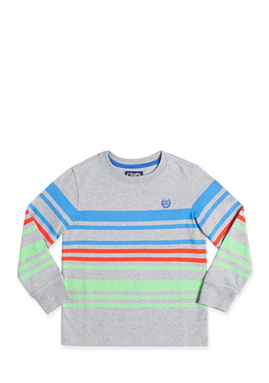 Chaps Long Sleeve Striped Tee Boys 4-7