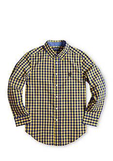 Chaps Gingham Poplin Shirt - Boys 8-20