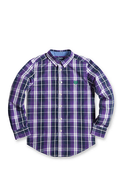Chaps Plaid Poplin Shirt Boys 8-20