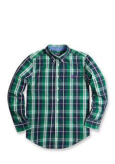 Chaps Plaid Poplin Shirt Boys 8-20