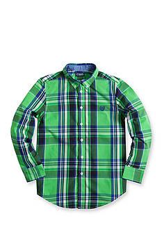 Chaps Plaid Poplin Shirt - Boys 8-20