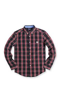 Chaps Plaid Button Down Shirt Boys 8-20
