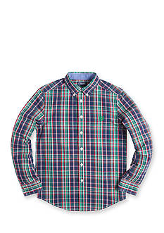 Chaps Long Sleeve Woven Plaid Button Down Shirt Boys 8-20