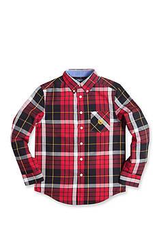 Chaps Twill Plaid Shirt Boys 8-20