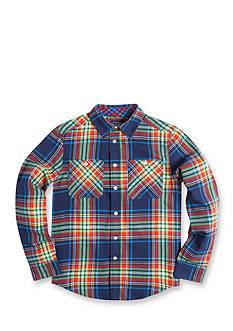 Chaps Plaid Flannel Shirt Boys 8-20