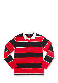 Chaps Long Sleeve Striped Polo Boys 8-20