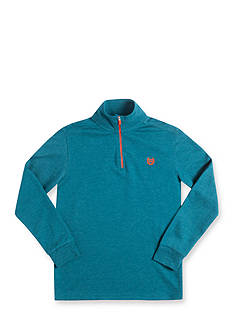 Chaps Long Sleeve Quarter Zip Storm Teal Fleece Pullover Boys 8-20