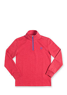 Chaps Long Sleeve Quarter Zipper Red Fleece Pullover Boys 8-20