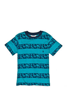 Penguin Short Sleeve Striped Palm Tree Tee Boys 8-20