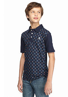 Penguin Foulard Print Polo Shirt Boys 8-20