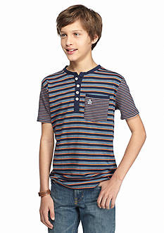 Penguin Striped Henley Shirt Boys 8-20
