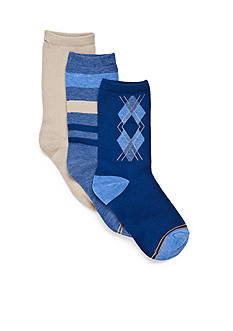 Gold Toe® 3-Pack Argyle Dress Socks Boys 8-20