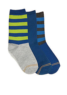 Gold Toe® 3-Pack Fashion Dress Socks Boys 4-20