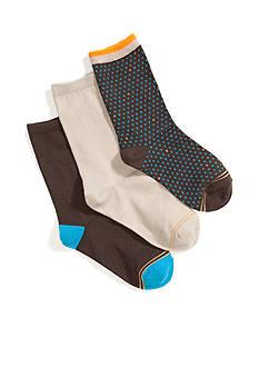 Gold Toe Pindot Crew Dress Socks 9-11