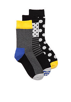 Happy Socks 3-Pack Cotton Anklet Socks Boys 8-20