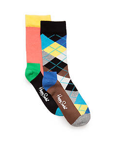 Happy Socks® 2-Pack Colorblock and Argyle Sock Set