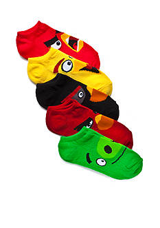 High Point Design Angry Birds Assorted 5-Pack Low Cut Socks Boys 4-7