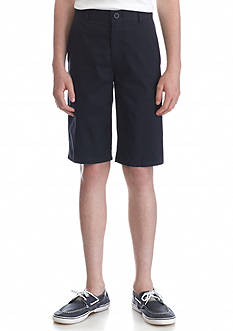 Nautica Uniform Flat Front Slim Shorts Boys 8-20