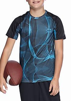 JK Tech Allover Print Raglan Short Sleeve Activewear Boys 8-20