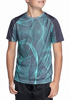 JK Tech Allover Print Raglan Short Sleeve Activewear Boys 8-20