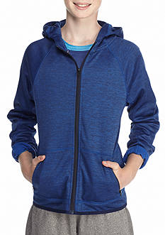 JK Tech Full Zip Cowl Neck Fleece Hoodie Jacket Boys 8-20