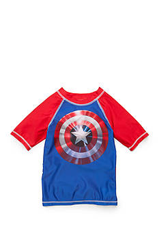 Marvel Captain America Rashguard Boys 4-7