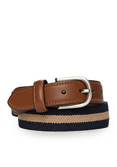 J. Khaki Stripe Stretch Web Belt Boys 8-20