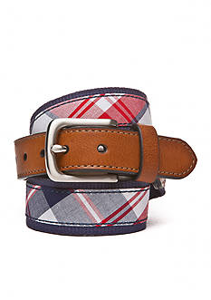 J. Khaki Tapered Plaid Belt Boys 8-20