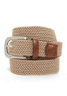 J. Khaki Elastic Braid Belt Boys 8-20