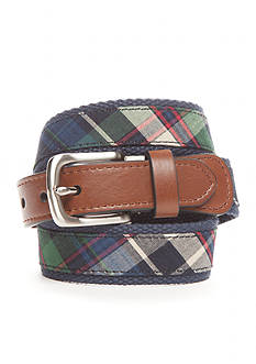 J. Khaki® Plaid Web Overlay Belt Boys 4-20