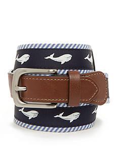 J. Khaki Whale Print Belt Boys 4-7