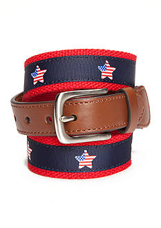 J. Khaki Flag Star Print Overlay Belt Boys 8-20